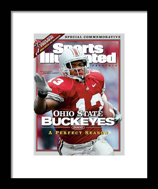 Michigan Framed Print featuring the photograph Ohio State University Maurice Clarett, 2002 Ncaa Perfect Sports Illustrated Cover by Sports Illustrated