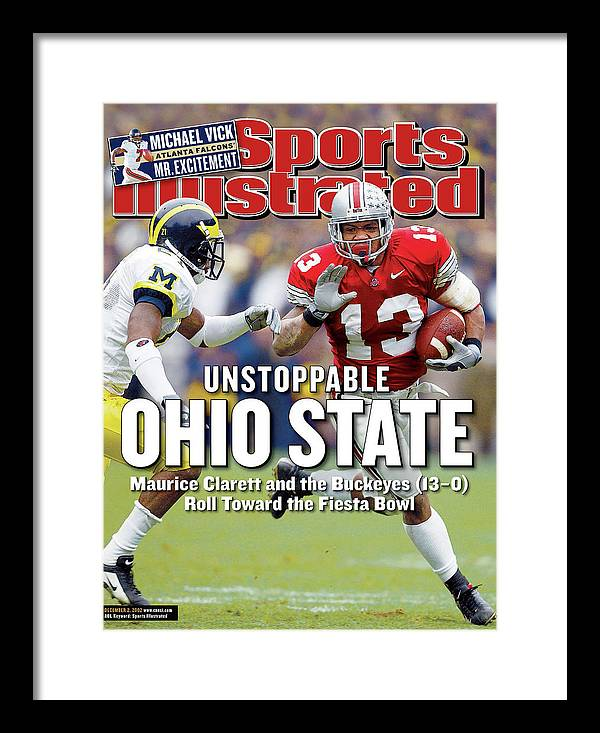 Sports Illustrated Framed Print featuring the photograph Ohio State University Maurice Clarett Sports Illustrated Cover by Sports Illustrated