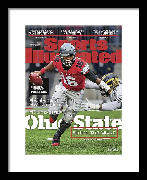 Magazine Cover Framed Print featuring the photograph Ohio State Why The Buckeyes Can Win It, 2016 College Sports Illustrated Cover by Sports Illustrated