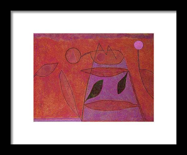 Paul Klee Framed Print featuring the painting Ohne Titel, 1933 by Paul Klee