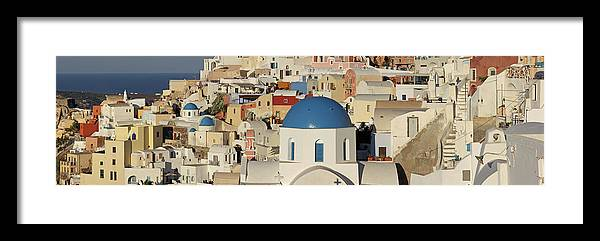 Tranquility Framed Print featuring the photograph Oia Architecture by Sandra Kreuzinger