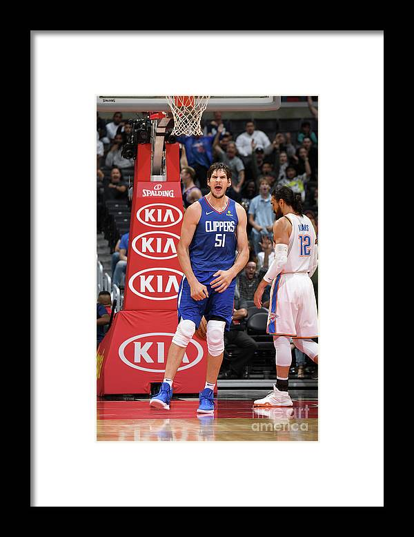 Nba Pro Basketball Framed Print featuring the photograph Oklahoma City Thunder V La Clippers by Andrew D. Bernstein