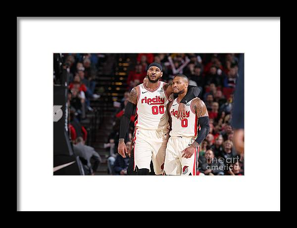 Nba Pro Basketball Framed Print featuring the photograph Oklahoma City Thunder V Portland Trail by Sam Forencich