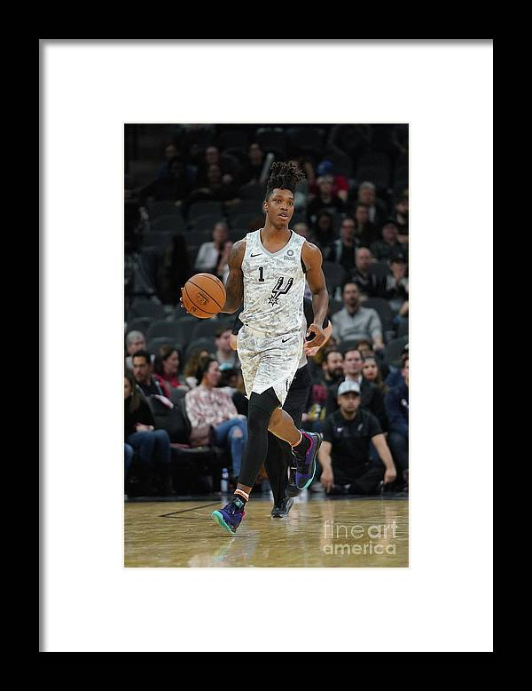 Nba Pro Basketball Framed Print featuring the photograph Oklahoma City Thunder V San Antonio by Darren Carroll