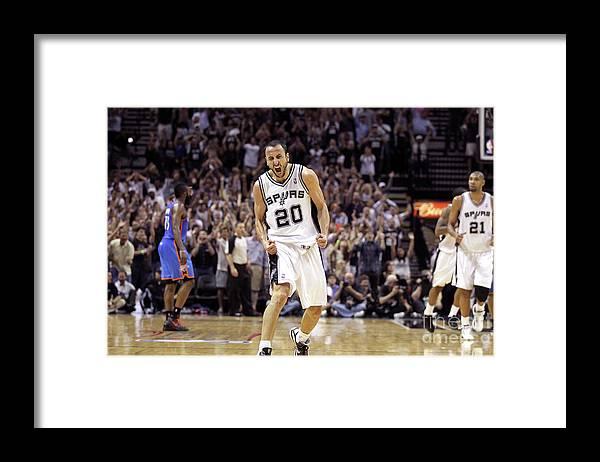 Playoffs Framed Print featuring the photograph Oklahoma City Thunder V San Antonio by Layne Murdoch
