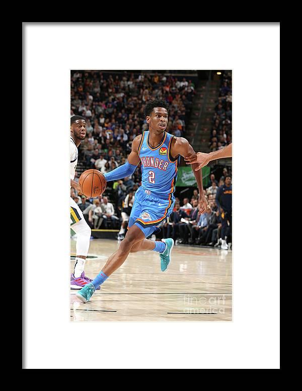 Nba Pro Basketball Framed Print featuring the photograph Oklahoma City Thunder V Utah Jazz by David Sherman