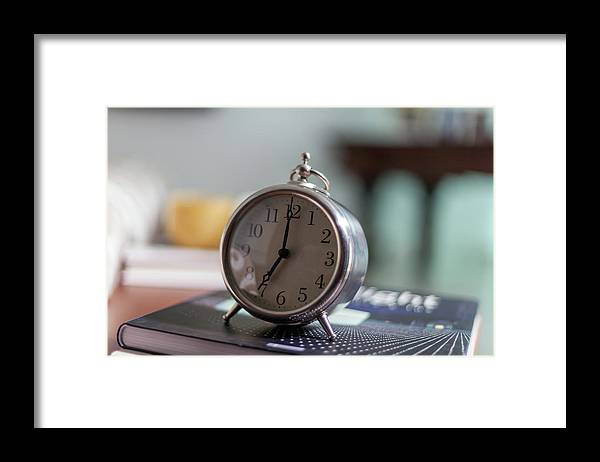 Madrid Framed Print featuring the photograph Old Alarm Clock by Julio Lopez Saguar