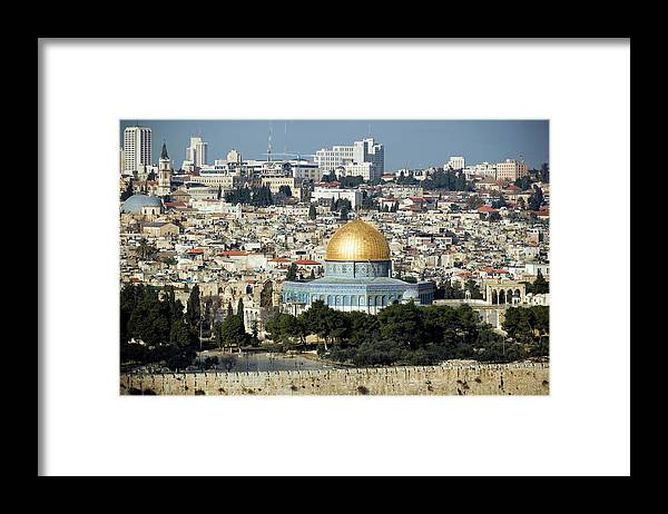 Scenics Framed Print featuring the photograph Old City Of Jerusalem by Claudiad