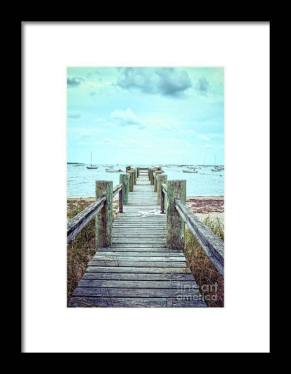 Dock Framed Print featuring the photograph Old Dock Hyannis Port Cape Cod Ma by Edward Fielding