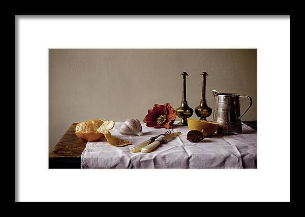 Orange Framed Print featuring the photograph Old Kitchen Still Life by Pch