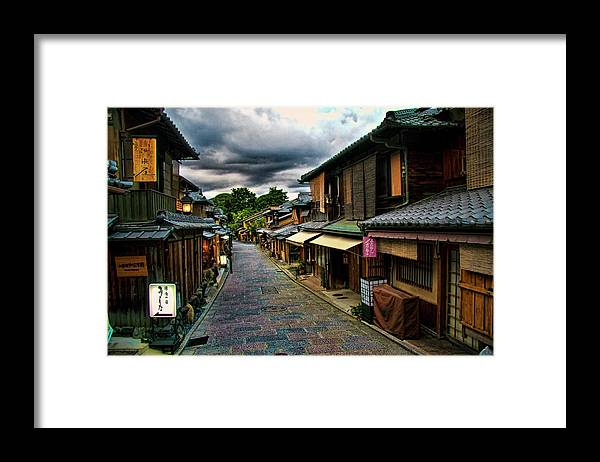 Tranquility Framed Print featuring the photograph Old Kyoto by Copyright Artem Vorobiev