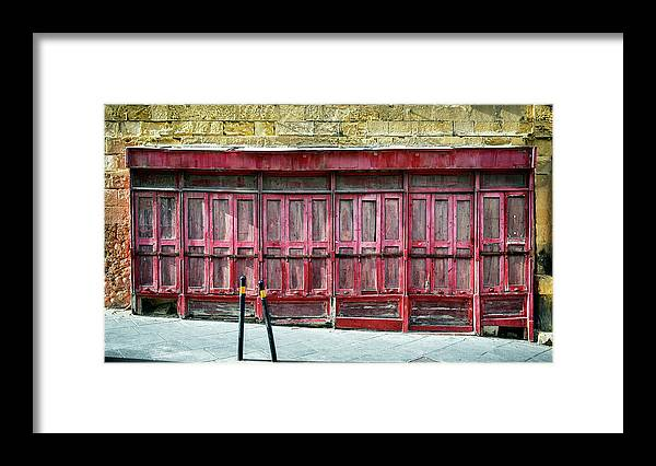 Finance And Economy Framed Print featuring the photograph Old Store Front by Foottoo