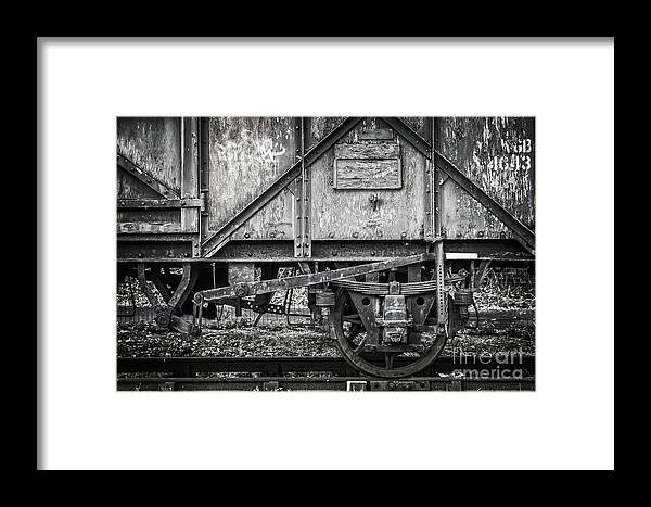 Train Framed Print featuring the photograph Old Train In Bristol by Delphimages Photo Creations