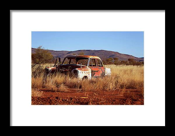 Transportation Framed Print featuring the photograph Old Wreck by Mark Vegera