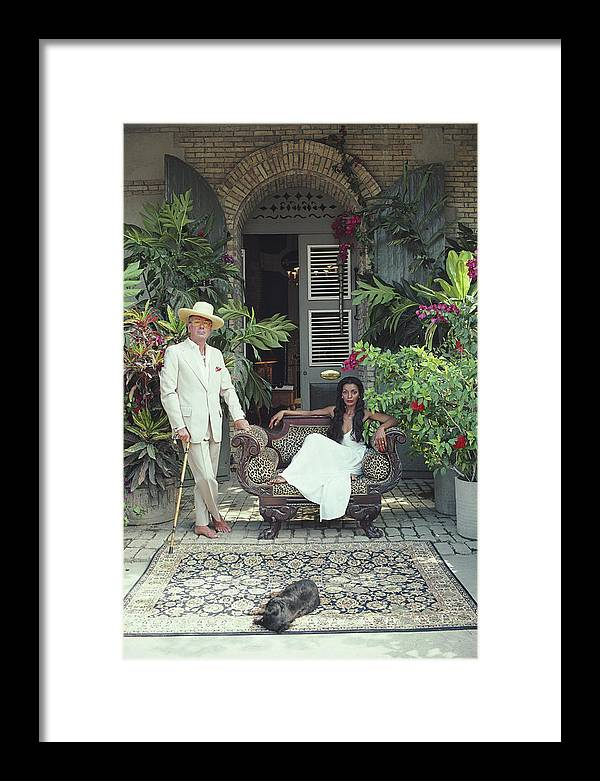 Pets Framed Print featuring the photograph Olivier Coquelin by Slim Aarons
