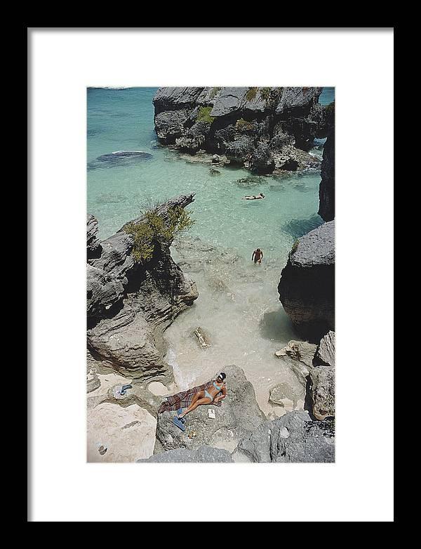 On The Beach In Bermuda Framed Print