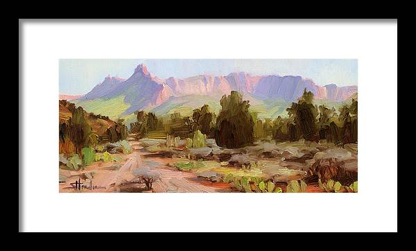 Zion Framed Print featuring the painting On The Chinle Trail by Steve Henderson