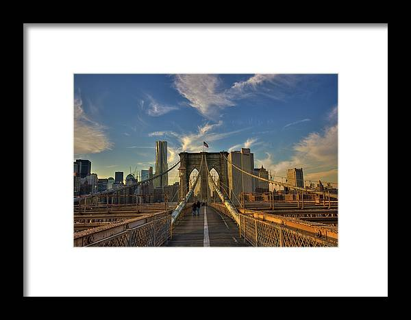 Built Structure Framed Print featuring the photograph On The Way To Manhattan by Alexander Matt Photography