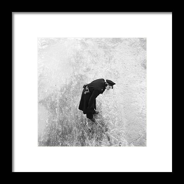 Mature Adult Framed Print featuring the photograph On Thick Ice by Scherer