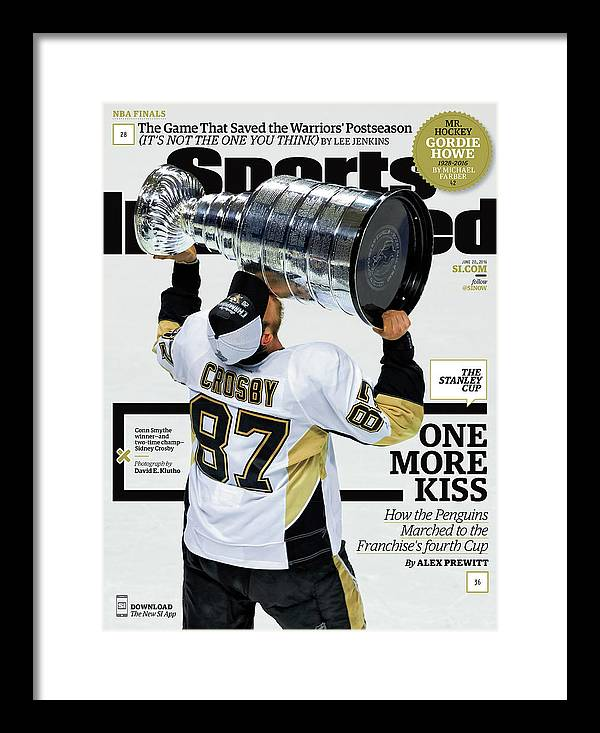 Magazine Cover Framed Print featuring the photograph One More Kiss How The Penguins Marched To The Franchises Sports Illustrated Cover by Sports Illustrated