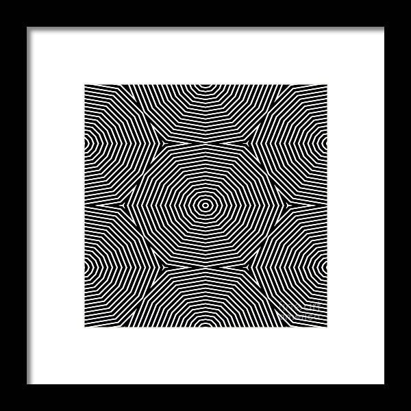 Virtual Framed Print featuring the digital art Op Art Only Symmetrical Shapes 04 by Cvadrat