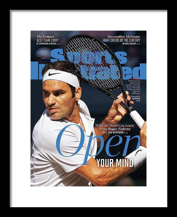 Tennis Framed Print featuring the photograph Open Your Mind What The World Can Learn From Roger Federer Sports Illustrated Cover by Sports Illustrated