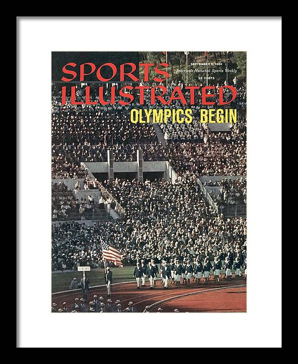 Magazine Cover Framed Print featuring the photograph Opening Ceremony, 1960 Summer Olympics Sports Illustrated Cover by Sports Illustrated