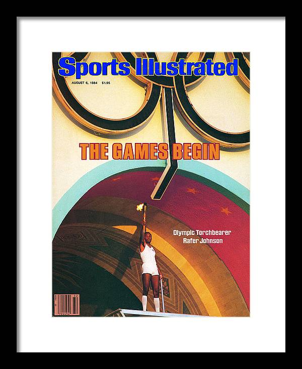 Magazine Cover Framed Print featuring the photograph Opening Ceremony, 1984 Summer Olympics Sports Illustrated Cover by Sports Illustrated