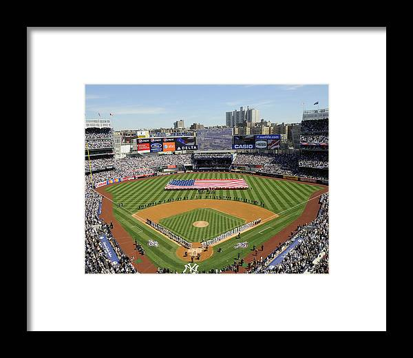 American League Baseball Framed Print featuring the photograph Opening Day Yankee Stadium. New York by New York Daily News Archive