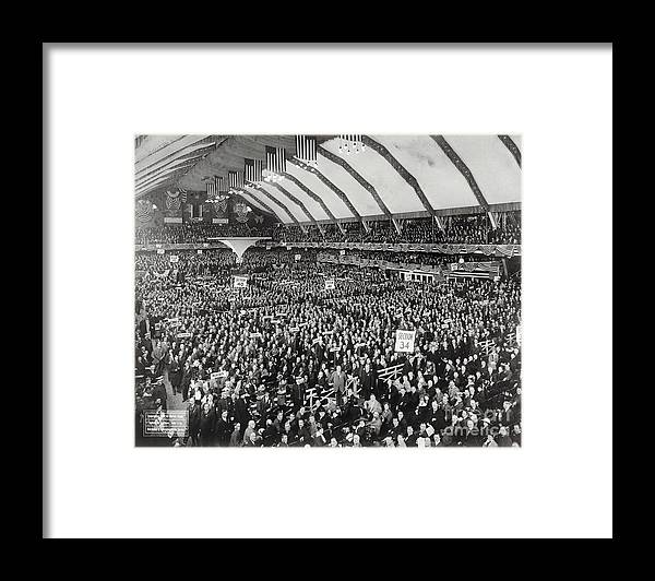People Framed Print featuring the photograph Opening Of G.o.p. Convention by Bettmann
