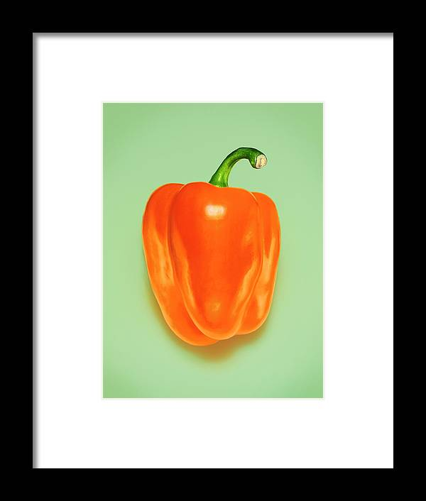 Orange Color Framed Print featuring the photograph Orange Pepper by Adrian Burke