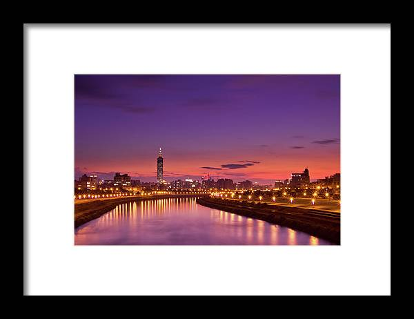 Orange Color Framed Print featuring the photograph Orange Sunset by © Copyright 2011 Sharleen Chao