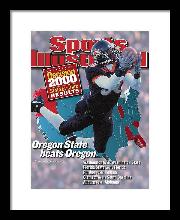 Magazine Cover Framed Print featuring the photograph Oregon State University Chad Johnson Sports Illustrated Cover by Sports Illustrated