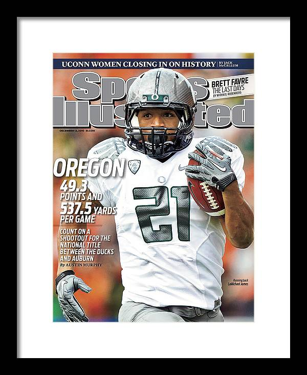 Magazine Cover Framed Print featuring the photograph Oregon State University Vs University Of Oregon Sports Illustrated Cover by Sports Illustrated