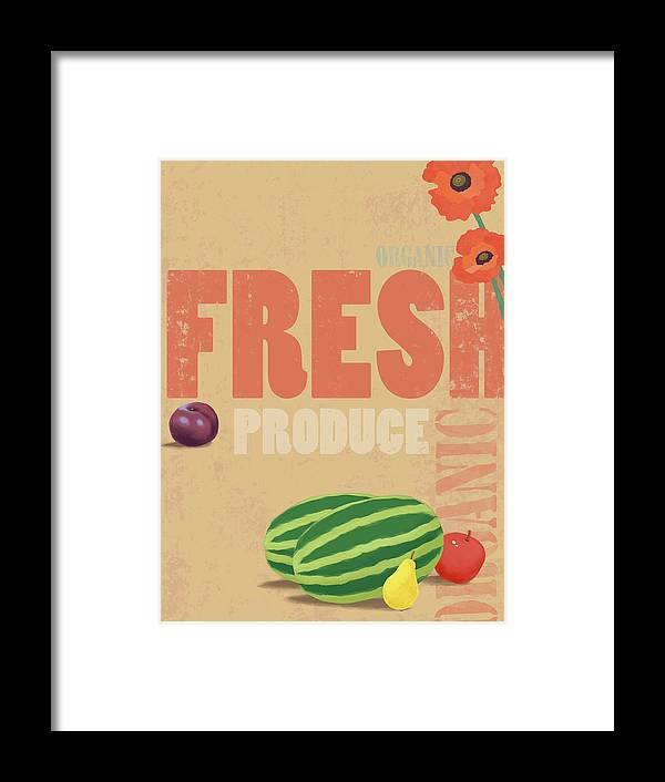 Part Of A Series Framed Print featuring the digital art Organic Fresh Produce Poster by Don Bishop