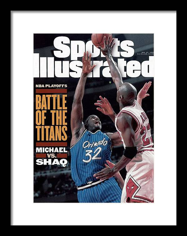 Playoffs Framed Print featuring the photograph Orlando Magic Shaquille Oneal, 1995 Nba Eastern Conference Sports Illustrated Cover by Sports Illustrated