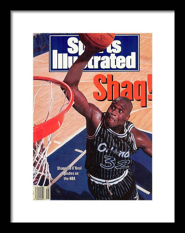 Magazine Cover Framed Print featuring the photograph Orlando Magic Shaquille Oneal... Sports Illustrated Cover by Sports Illustrated