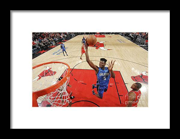 Nba Pro Basketball Framed Print featuring the photograph Orlando Magic V Chicago Bulls by Randy Belice