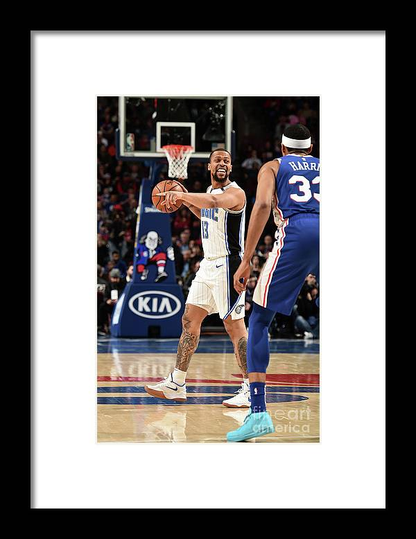 Nba Pro Basketball Framed Print featuring the photograph Orlando Magic V Philadelphia 76ers by David Dow