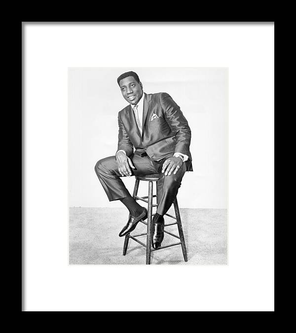 People Framed Print featuring the photograph Otis Redding Portrait by Michael Ochs Archives