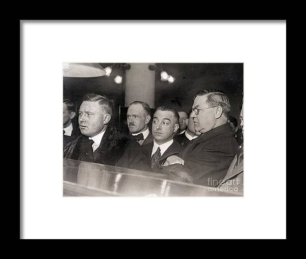People Framed Print featuring the photograph Otto Christensen In Court by Bettmann