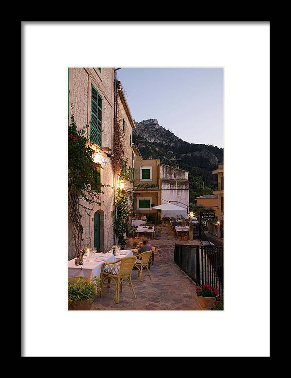 People Framed Print featuring the photograph Outdoor Seating At Son Llarg Restaurant by Holger Leue