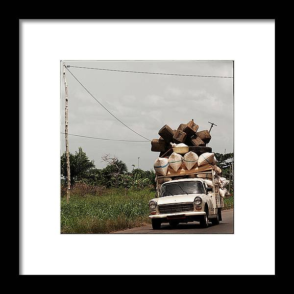 Transfer Print Framed Print featuring the photograph Overloaded Car by Rodriguez Art Work