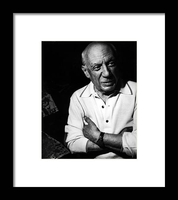 Artist Framed Print featuring the photograph Pablo Picassopablo Picasso Misc by Gjon Mili