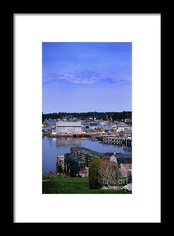 Maine Framed Print featuring the photograph Painted Booth Bay Harbor, Me by Skip Willits