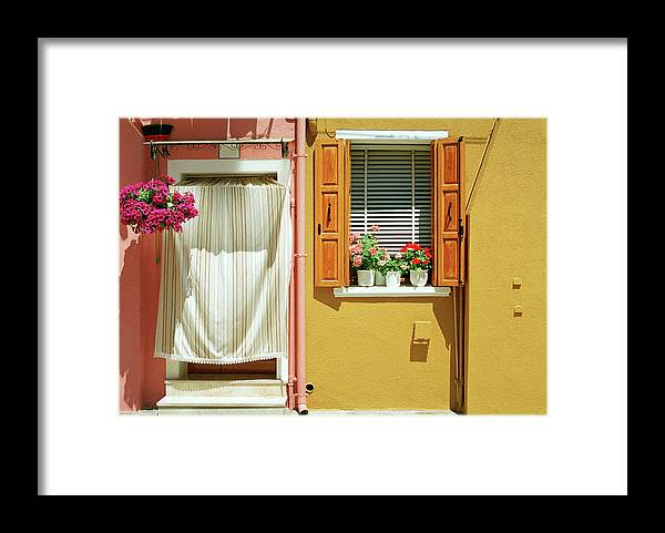 Hanging Framed Print featuring the photograph Painted House In Burano by Terraxplorer