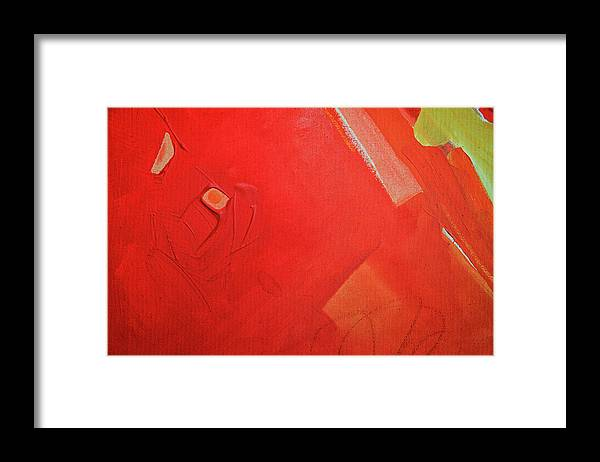 Gouache Framed Print featuring the digital art Painting On Canvas by Petekarici