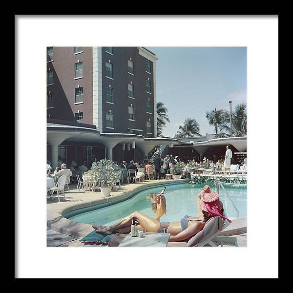 People Framed Print featuring the photograph Palm Beach by Slim Aarons