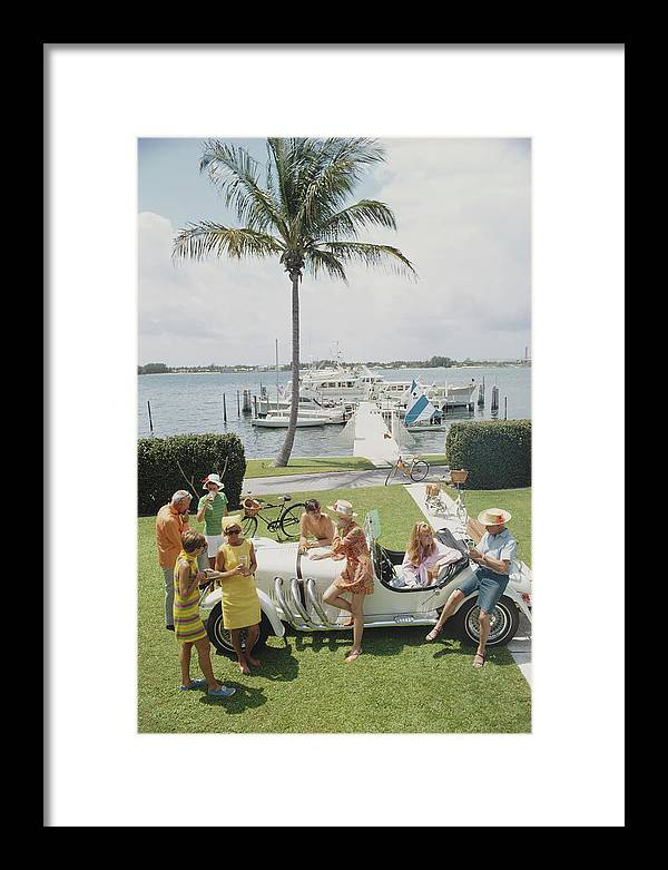 People Framed Print featuring the photograph Palm Beach Society by Slim Aarons