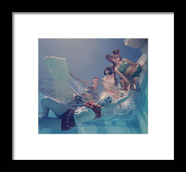 Underwater Framed Print featuring the photograph Palm Springs Fashion, No. 8 by Lawrence Schiller
